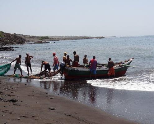 Kaapverdië Santo Antao Vissermannen