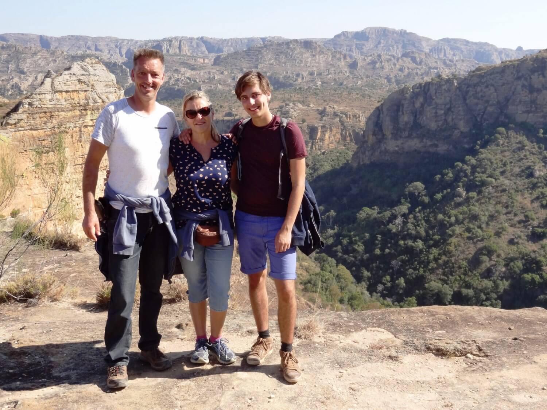 Uitzicht Isalo Park Madagascar