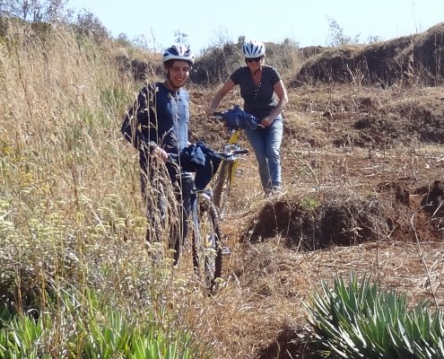 Madagascar fietstocht klauteren
