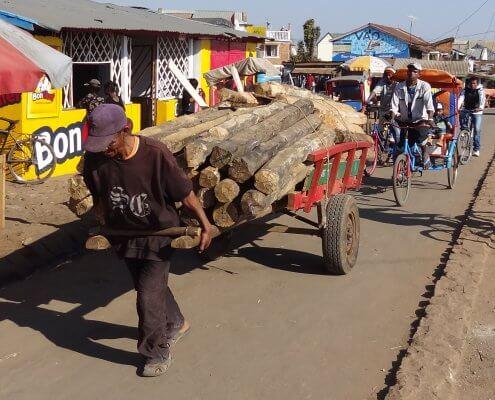 Madagascar Antsirabe handkar