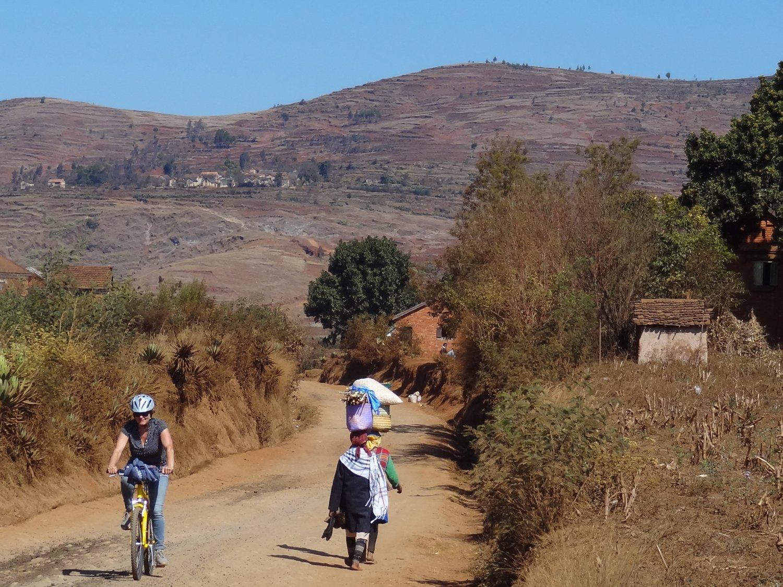 Madagascar Antisrabe fietstocht onderweg
