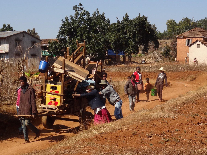 Madagascar fietstocht onderweg