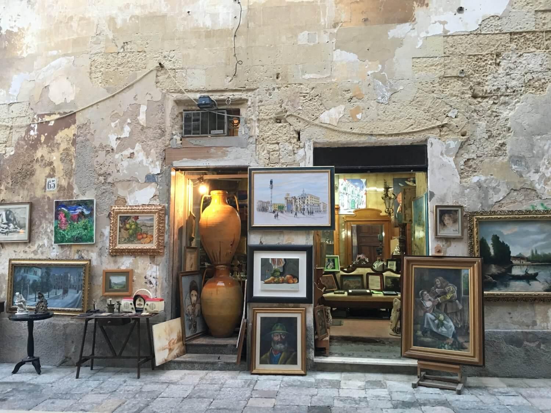 Italië Lecce straatleven