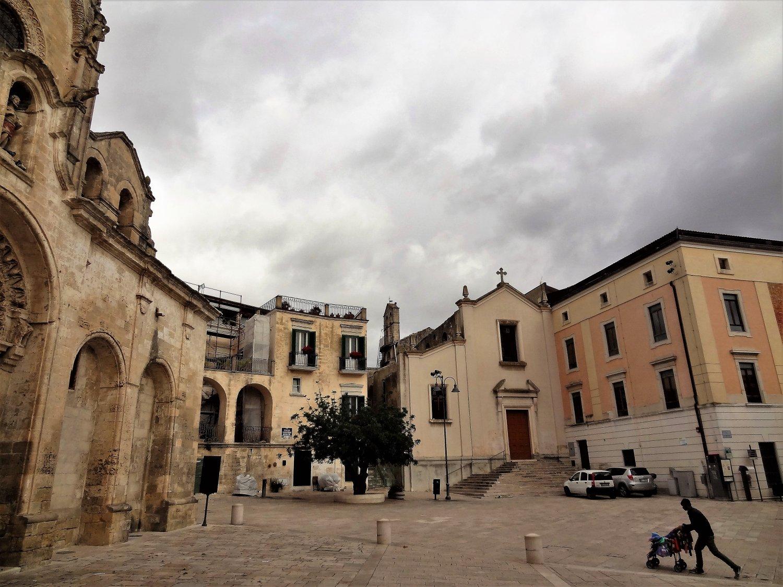 Italië Matera straatbeeld
