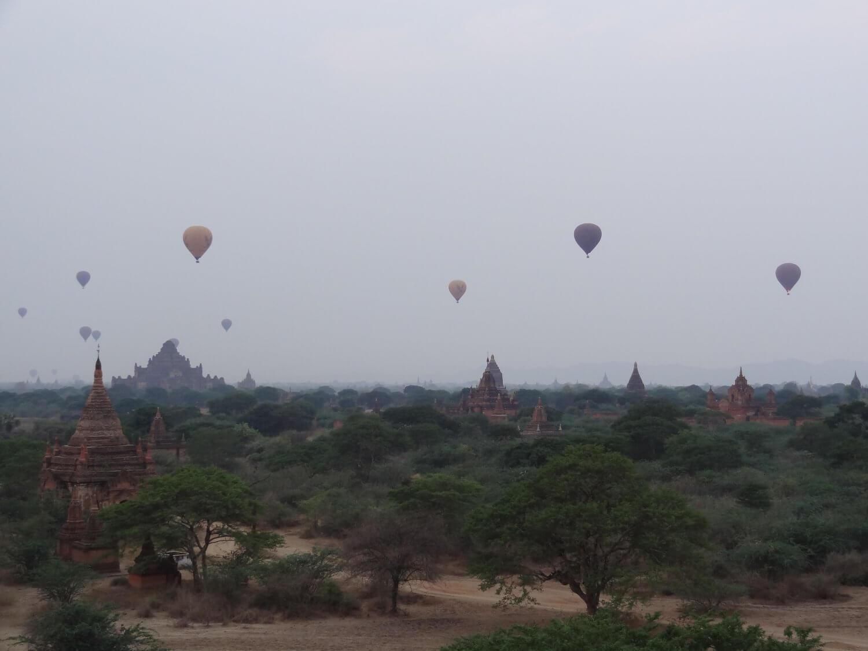Myanmar Bagan zonsondergang