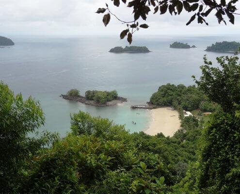 Panama Isla Coiba uitzicht