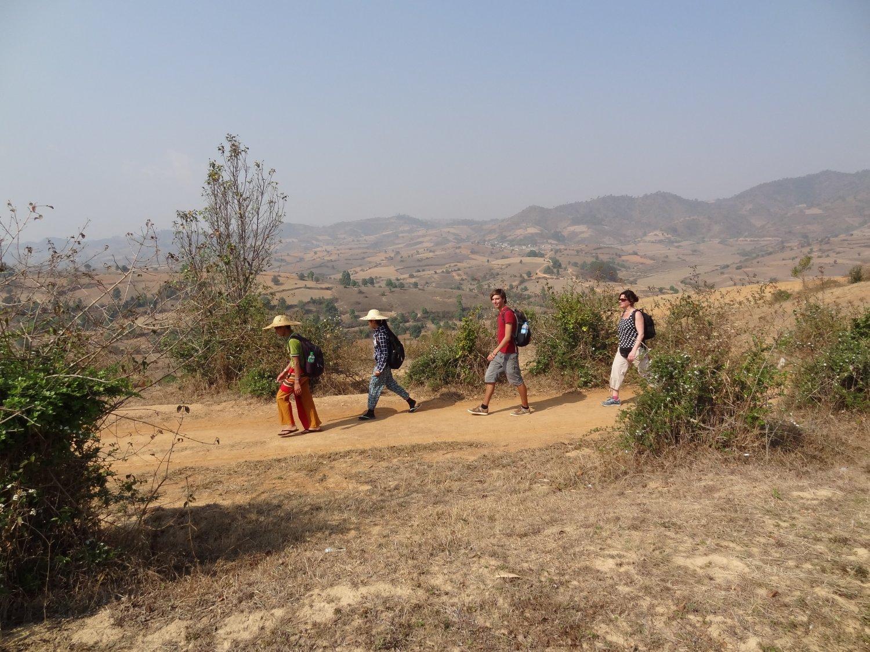 Myanmar trekking wandeling