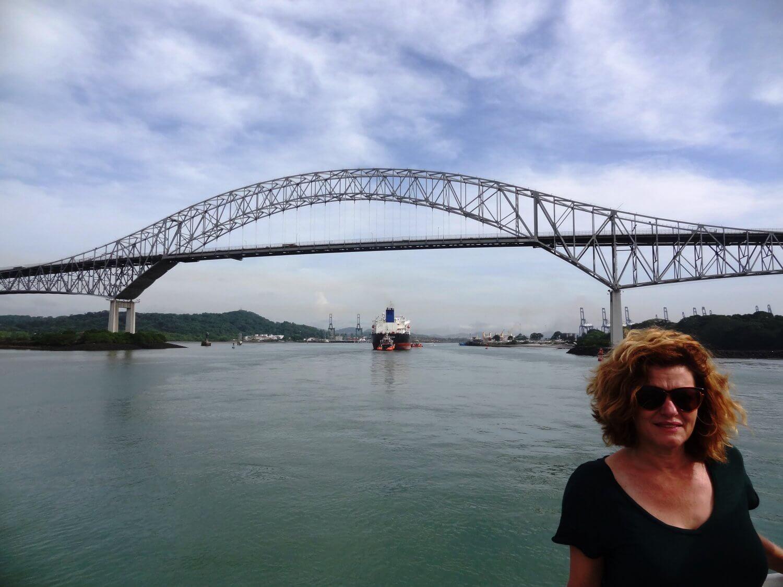 Panama Brug bij ingang Panamakanaal