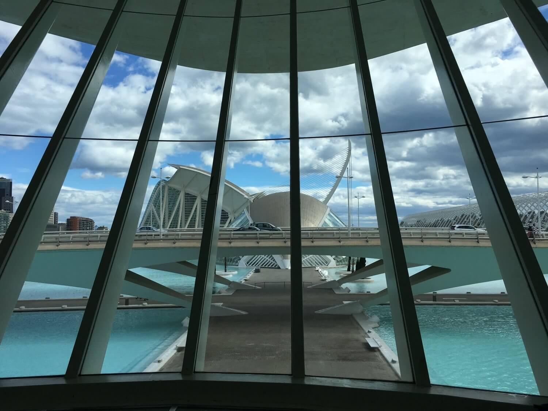 Valencia Uitzicht vanuit Palau las Arts