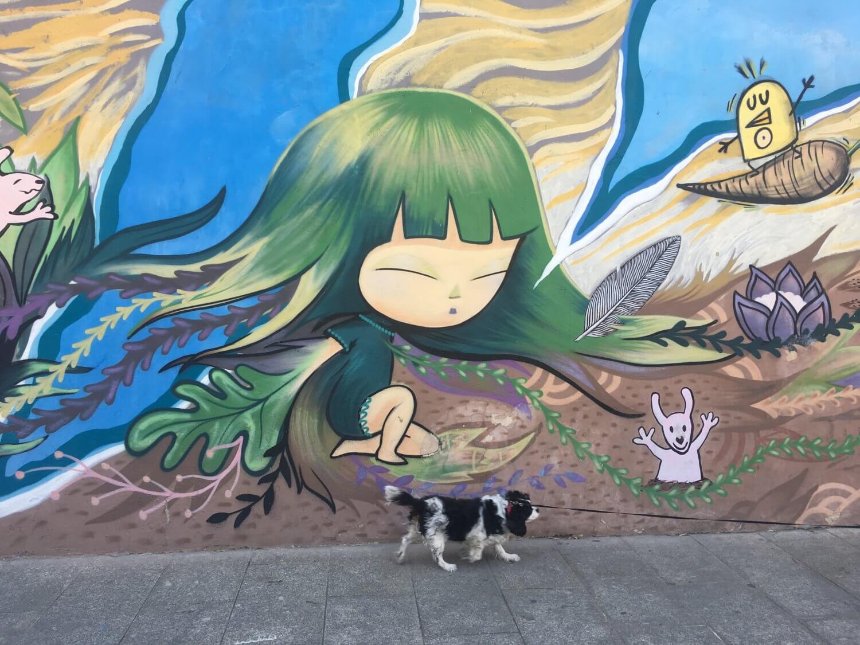 Valencia streetart piece van Julieta