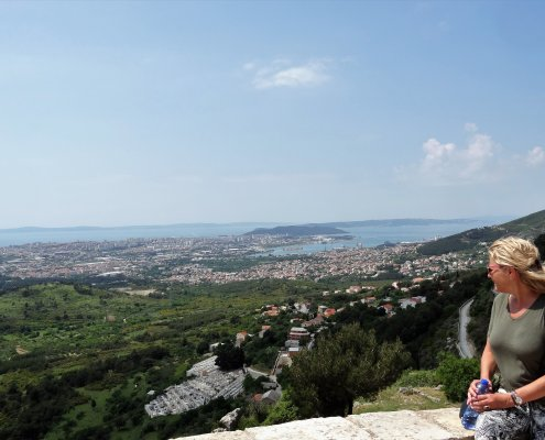 Kroatië viewpoint fort Klis