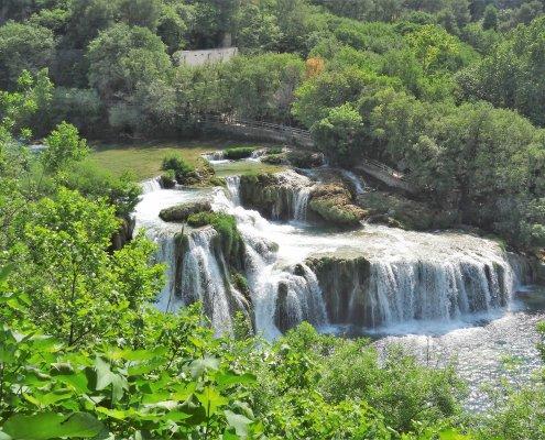 Kroatië Krka falls overview