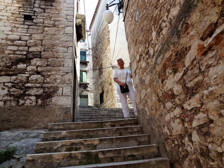 Kroatië Sibenik stad van trappetjes