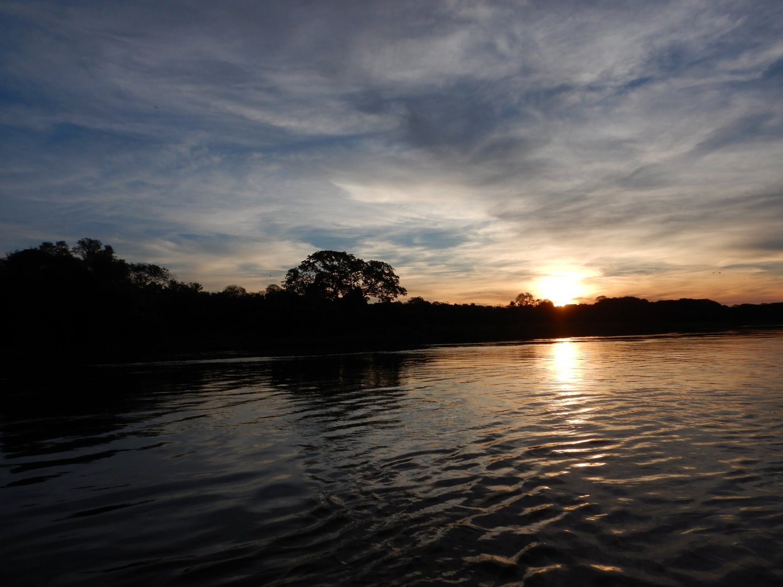 Pantanal zonsondergang