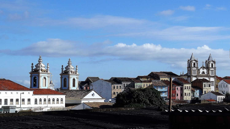 Salvador de Bahia gezicht op Pelourinho
