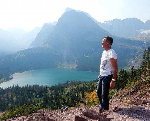 Glacier uitzicht Grinnell Lake