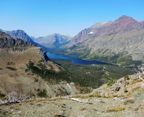 Glacier uitzicht Medicine Lake
