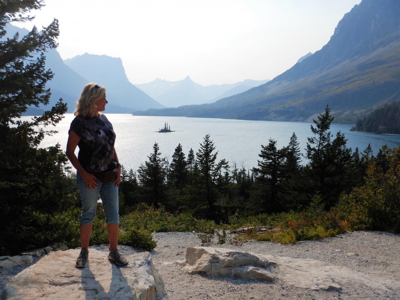 Glacier wild goose island overlook