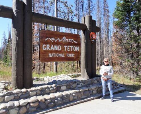 Ingang Grand Teton National Park
