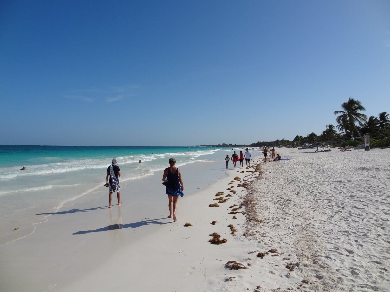 Tulum strandwandeling