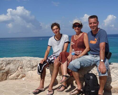 Yucatan Isla Mujeres familiefoto
