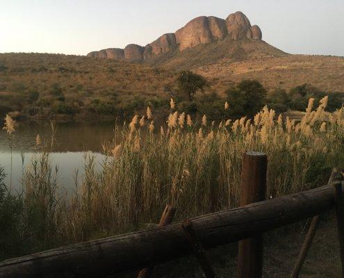 Marakele uitzicht op het meer